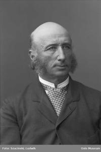 Thomas Johannessen Heftye (senior), 1885. Fotograf: Ludwik Szacinski / Oslo Museum / oslobilder.no